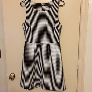 Black and white striped size M dress